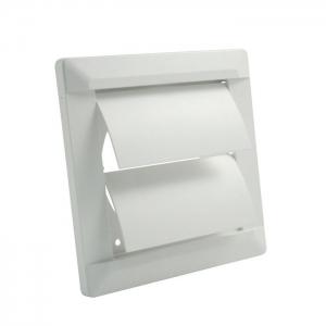 Внешняя вентиляционная решетка ø 100 собратным клапаном, 140х140, белая