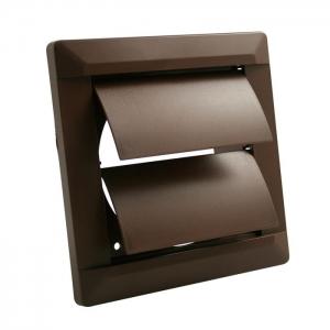 Внешняя вентиляционная решетка ø 100 собратным клапаном, 140х140, коричневая