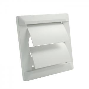 Внешняя вентиляционная решетка ø 125 собратным клапаном, 165х165, белая