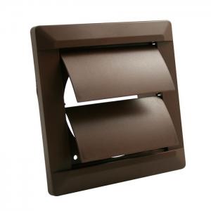Внешняя вентиляционная решетка ø 125 собратным клапаном, 165х165, коричневая