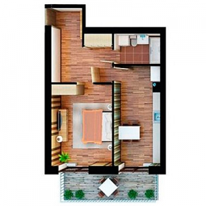 Комплект вентиляции с рекуператором для однокомнатной квартиры