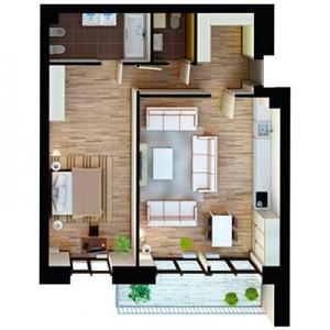 Комплект вентиляции с рекуператором для двухкомнатной квартиры
