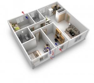 Комплект рекуператоров для СИП дома
